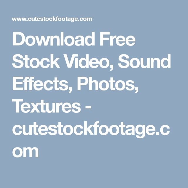 Download Free Stock Video, Sound Effects, Photos, Textures - cutestockfootage.com