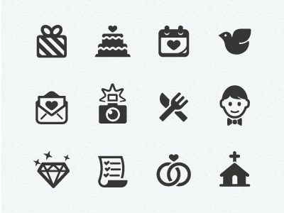 Wedding Icons by Scott Dunlap