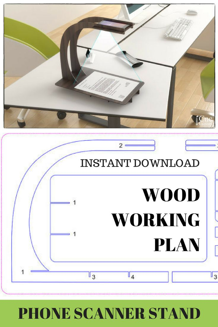 What a great Idea and wonderful design! This PHONE SCANNER STAND -  woodworking plans includes 2 different designs:for Android and for I-Phone. Optimized files for laser cutting machine and  cnc router machine. #woodworking #plan #wood #laser #ad #cutting #cnc #router