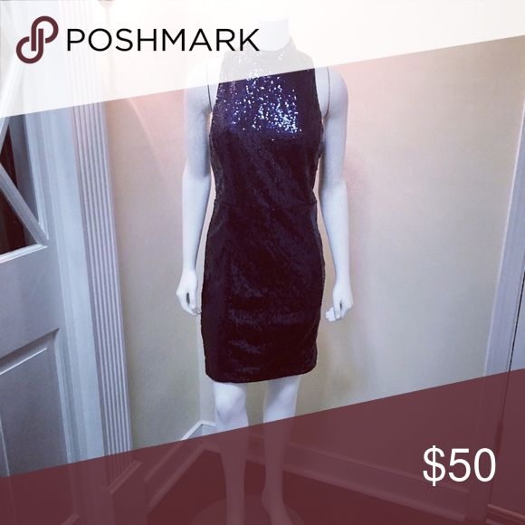 Midnight sequin dress MidnightBlue SequinDress Dresses