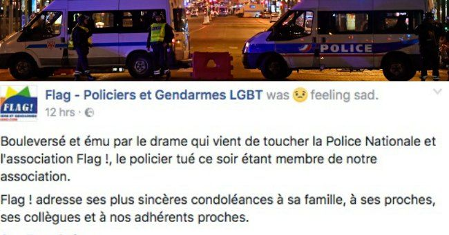 """Policeman killed in Paris terror attack was LGBT rights activist with husband: """"The officer has since been identified as 37-year-old Xavier Jugelé. Mr Jugelé was an active campaigner for LGBT rights in France, and leaves behind his civil partner, according to the Daily Telegraph. Mr Jugelé who was shot in the head and killed in the Champs Elysees attack, and 2 other officers were seriously injured...The gunman who killed the officer was subsequently shot dead by security forces"""" (Apr 21…"""