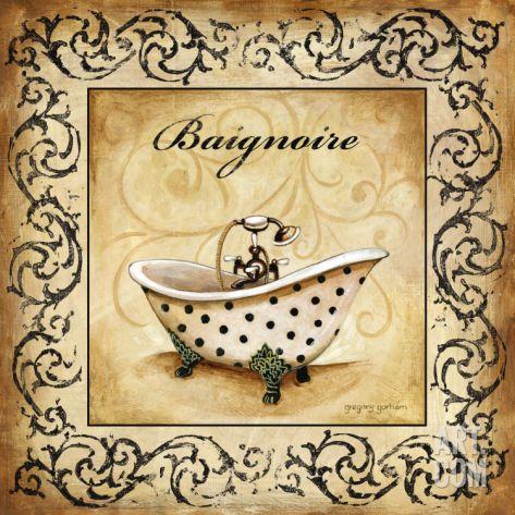 Classic Baignoire Print by Gregory Gorham at eu.art.com
