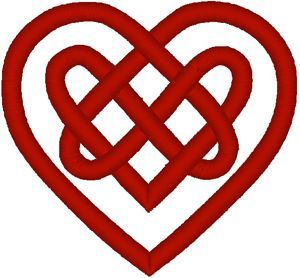 Celtic Heart Knot for left wrist.  Probably not in red though.