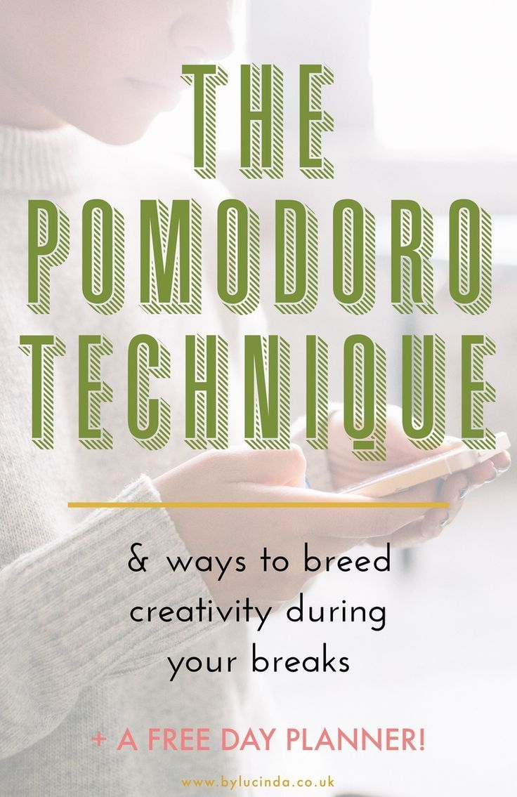 If you're anything like me and find it hard to focus on your daily tasks when there are so many, you NEED the Pomodoro technique and the daily planner I've created for you! Segment your day in to numerous 20 minute blocks with room for your favourite pass-times, and wait until you see how much more creative and inspired you feel! Free download of my Pomodoro daily planner at www.bylucinda.co.uk/blog/pomodoro-planner!