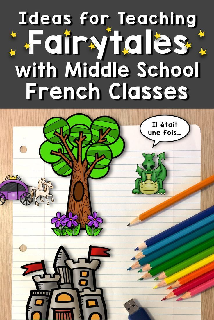 Ideas for Teaching Fairytales with Middle School French Classes