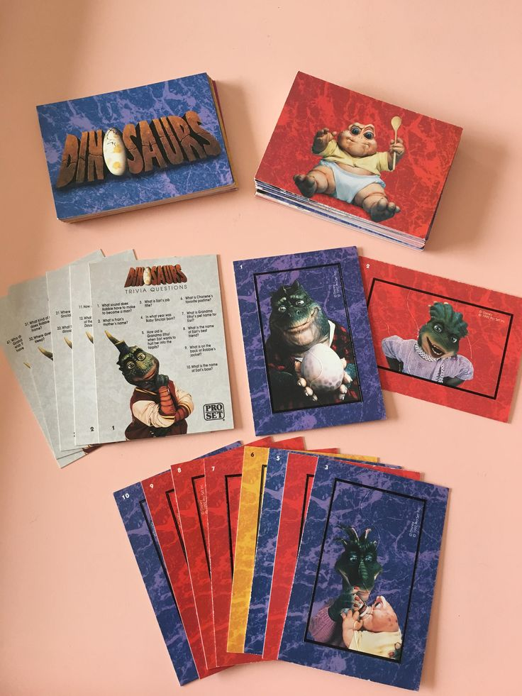 Dinosaurs TV Trading Cards COMPLETE SET and replacements  - Walt Disney Company - Muppets - Jim Henson - journaling - paper crafting by MuppetLoveVintage on Etsy