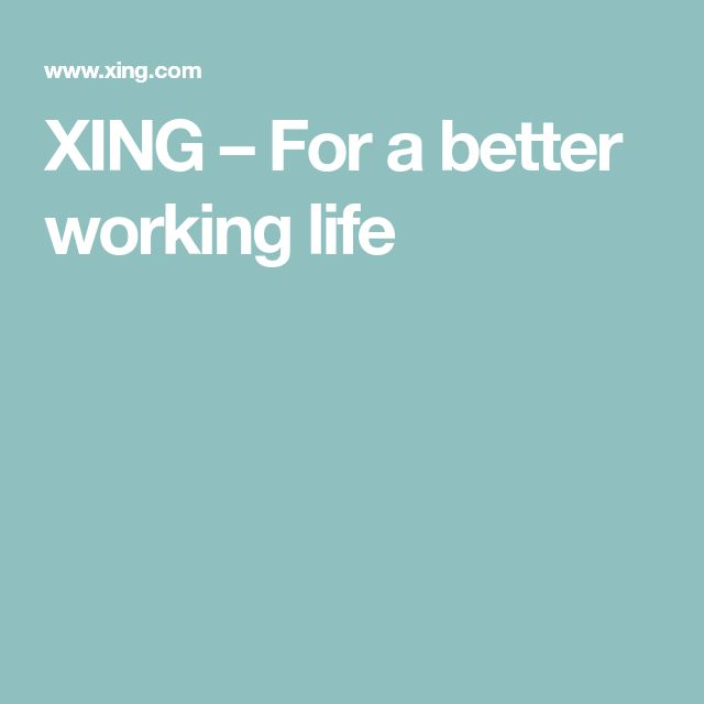 XING – For a better working life