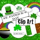 Sparkling Shamrocks, Rainbows and Pots of Gold!!!   Use this clip art to add some sparkle to your St. Patrick's Day lessons and materials.    This ...