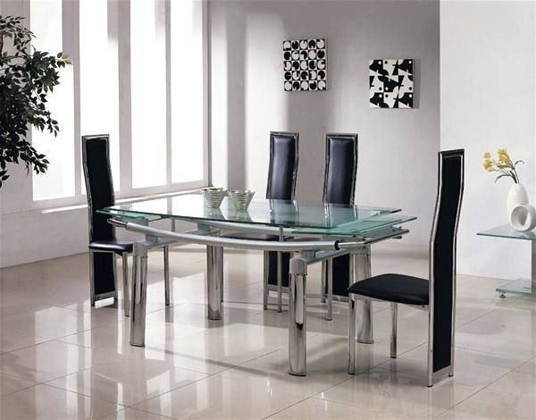 Used Dining Room Table And 6 Chairs Dining Room Glass Dining