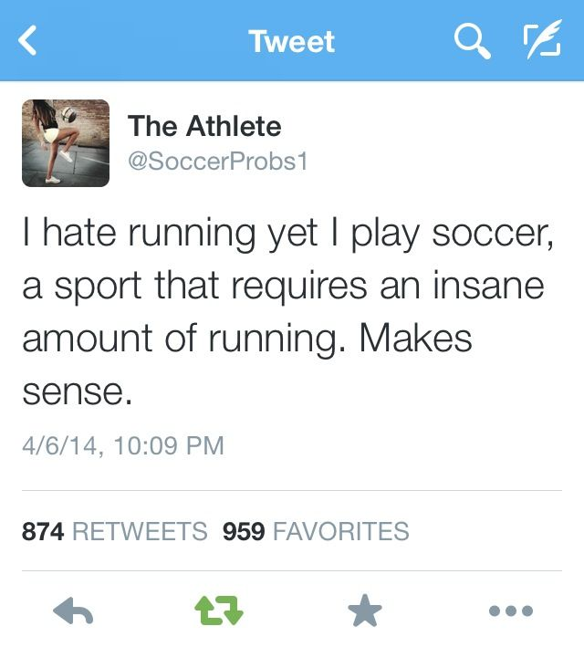 The struggle #soccerprobs but I do kinda like running but I have to be in the mood