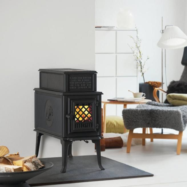 Jotul F118 Clean Burn Wood Burning Stove Fireplace Into The Woods Inredning