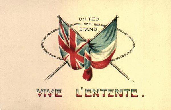 Savez Antanta utemeljen je nasuprot Trojnom savezu. Članice Antante bile su Velika britanija i Francuska (1904.) i kasnije Rusija (1907.)
