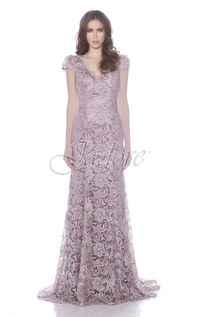 Jadore Style #J7109 featured in #TeaRose #Lace dress great for #Bridesmaid…