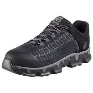 Timberland Pro Powertrain Sport Alloy Safety Toe EH Work Shoes for Men - Black/Gray -