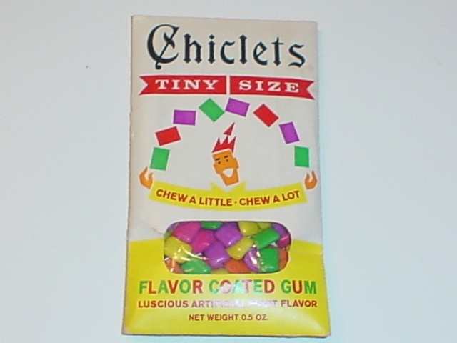 ahh, haven't seen this packaging in so many years. :) Chiclets - with the see through window