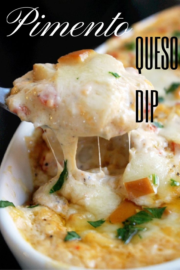 Smokey Pimento Cheese Queso Dip with Country White Croutons - Creole Contessa