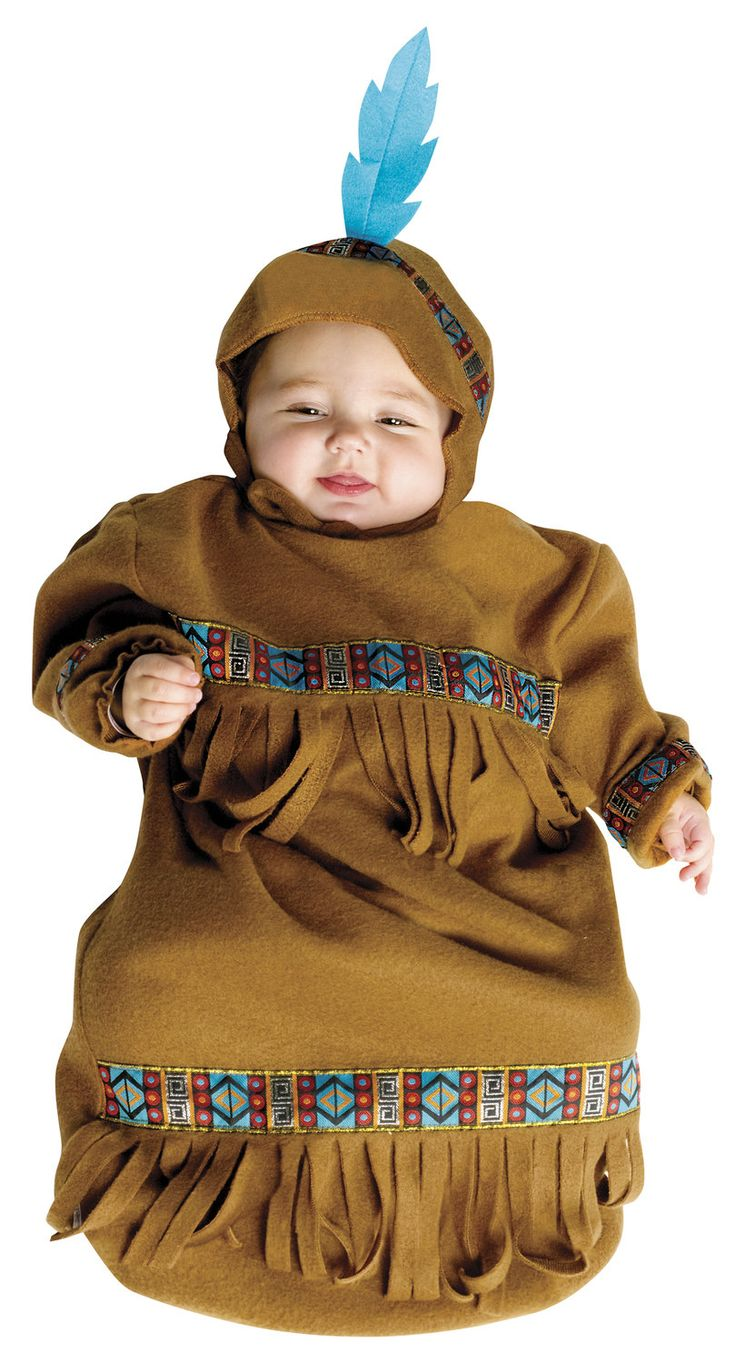 Indian Papoose Bunting Baby Costume Indian Costumes - Mr. Costumes