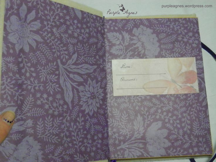 Handmade Journals for 2 sisters, inside cover, picture 5