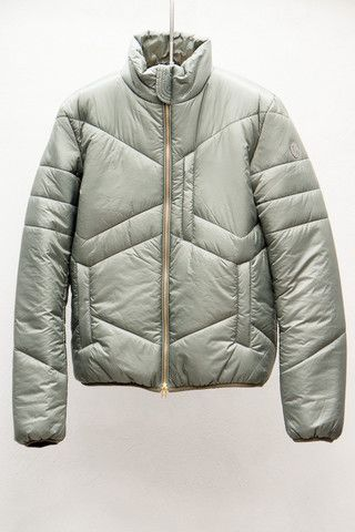 Slate Grey Puffer Jacket by Closed $349