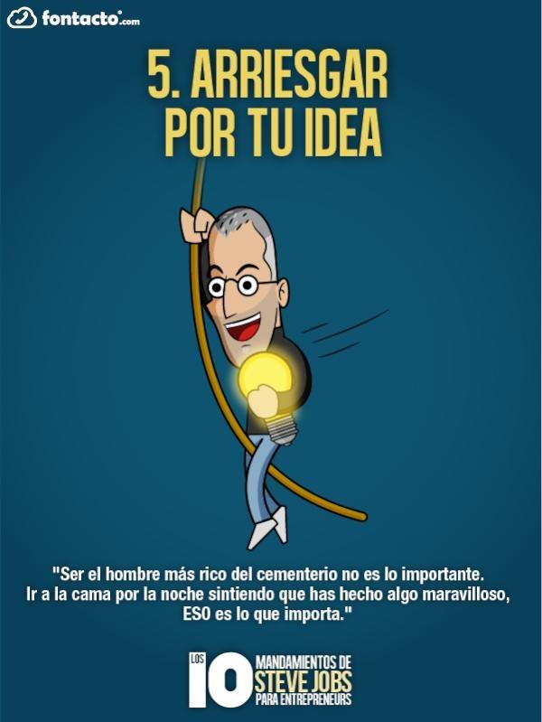 5) Arriesgar por tu idea