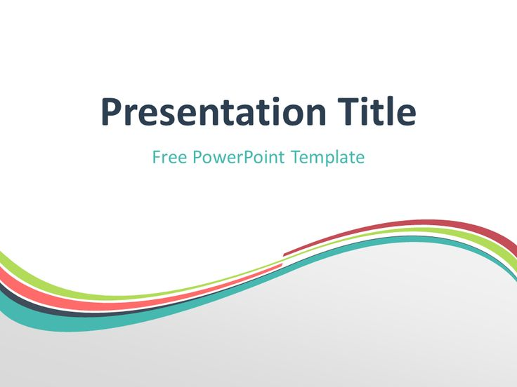 47 best abstract powerpoint templates images on pinterest role free verdigris abstract wave powerpoint template title slide with light background toneelgroepblik Images