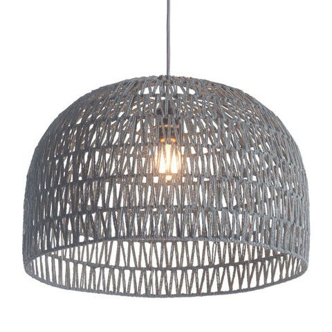 Zuo Paradise Ceiling Lamp Gray - great with Plumen bulbs - available at plumen.com