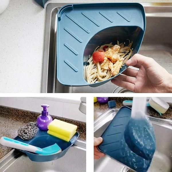 Kitchen Triangle Shape Suction Cup Sink Strainer Drain Basket Kitchen Triangle Sink Strainer Triangle Shape