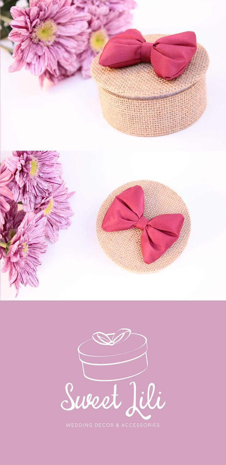 [#Wedding] Ring bearer made in France with a strawberry pink silk bow.