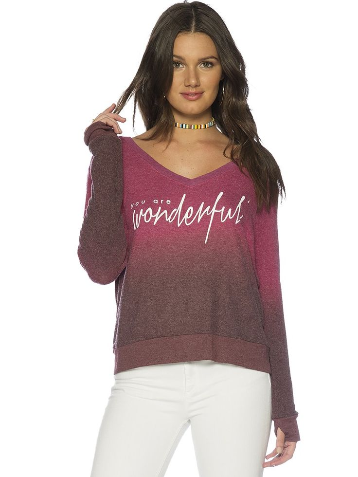 You Are Wonderful Oversized Comfy Top