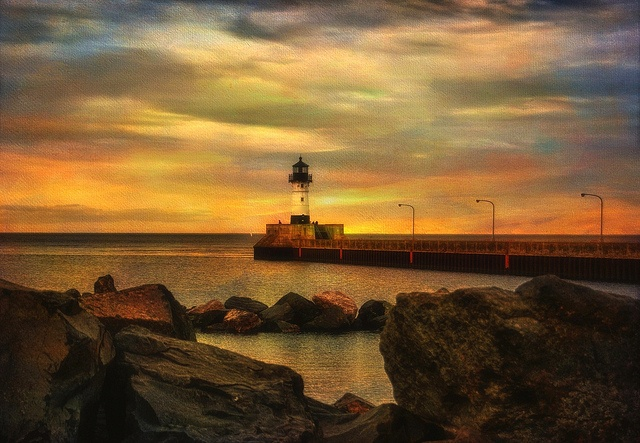 Lighthouse at Sunset by LynnF1024, via Flickr