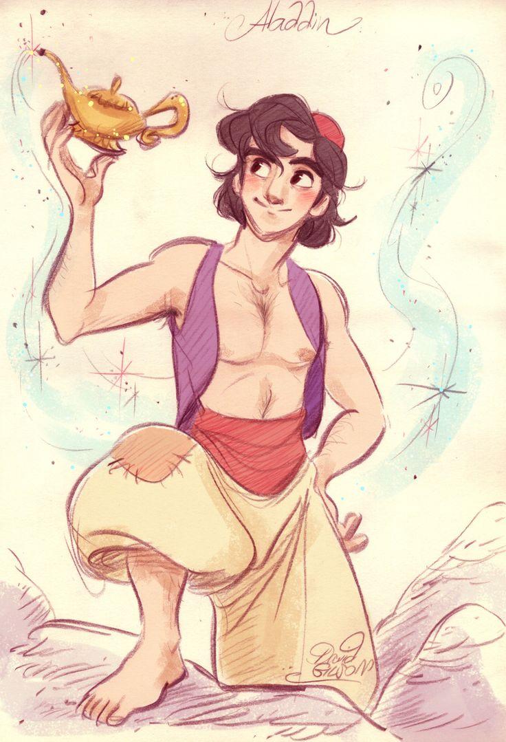 FR-: Fanart d'Aladdin de Disney que j'avais dessiné à un ami il y a quelques mois et auquel j'ai ajouté quelques touches de couleurs. EN-: Fanart of Disney's Aladdin that I had drawn to a friend a few months ago and to which I added a few touches of...