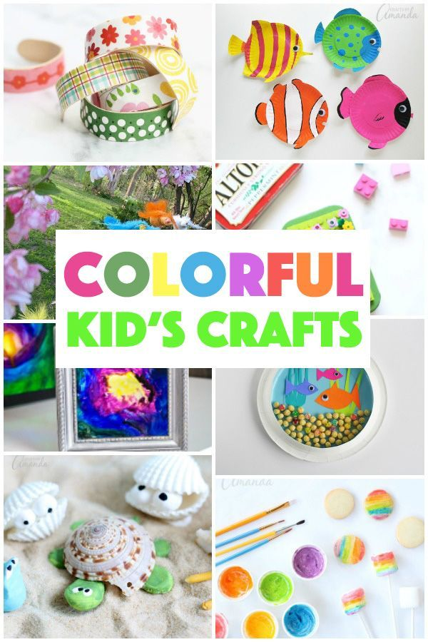 There S Something About Colorful Kid S Crafts That Makes For A Fun Afternoon I Ve Put Together A H Craft Activities For Kids Color Crafts Recycled Crafts Kids