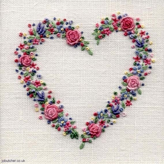 Rose and Lavender Floral Heart