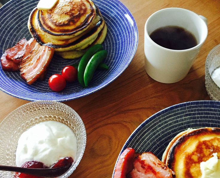 朝ごはん 20150211 #arabia #24h #avec #iittala #teema #kastehelmi #kaybojesen #breakfast