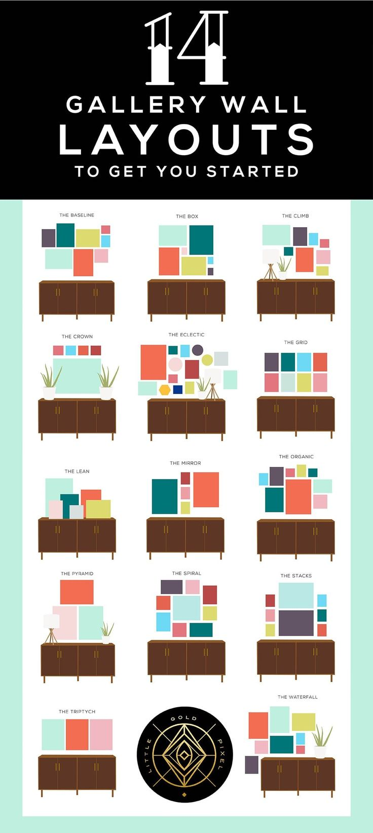 14 Gallery Wall Layouts to Get You Started Where t…