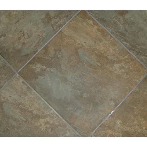 "Kitchen Floor Tiles Lowes: Classic 18"" X 18"" Sedona Slate Cedar Glazed Porcelain"