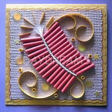 Image result for how to make creative greeting cards for Diwali