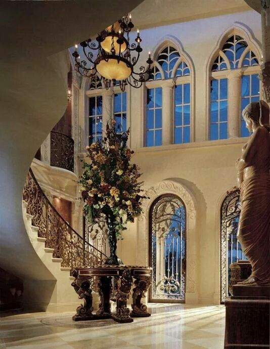 Pin by clarissa honore on homes pinterest beautiful for Entrance hall decor