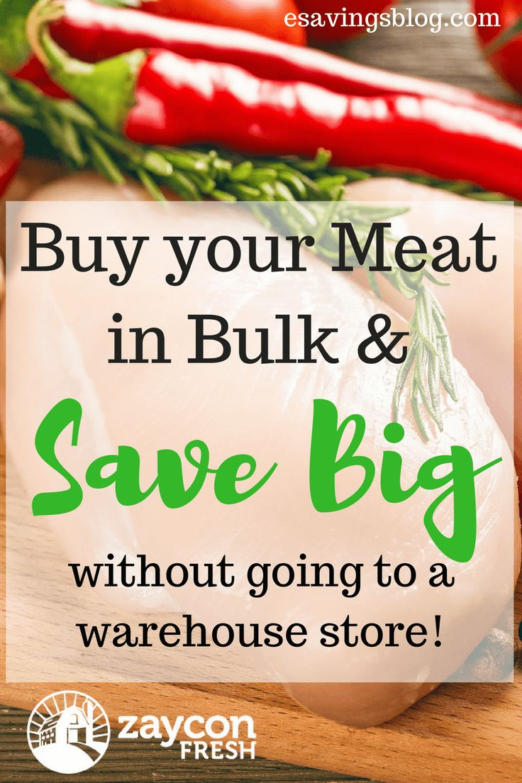 Buying your meat in bulk can save you a ton of money. Check out my Zaycon Foods Review.