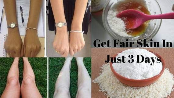 Fair skin in 3 days  RICE FLOUR is most effective & useful ingredient to lighten and brighten the skin complexion .It contains PABA which is very good sunscreen. It removes suntan & darkness instantly from skin.It mildly exfoliate your skin, remove dead skin cells, pigmentation & even out skin tone.It absorbs....