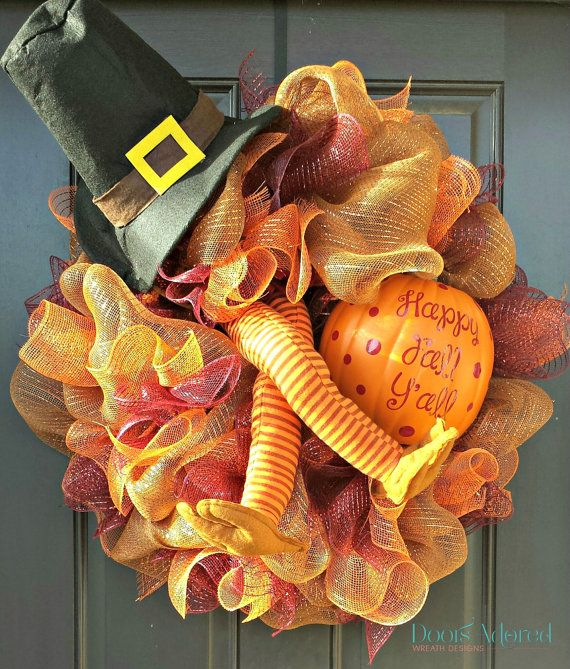 Turkey Wreath Thanksgiving Wreath Fall Turkey by DoorsAdored