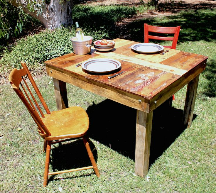 """Our 42"""" x 40"""" dining kitchen table."""