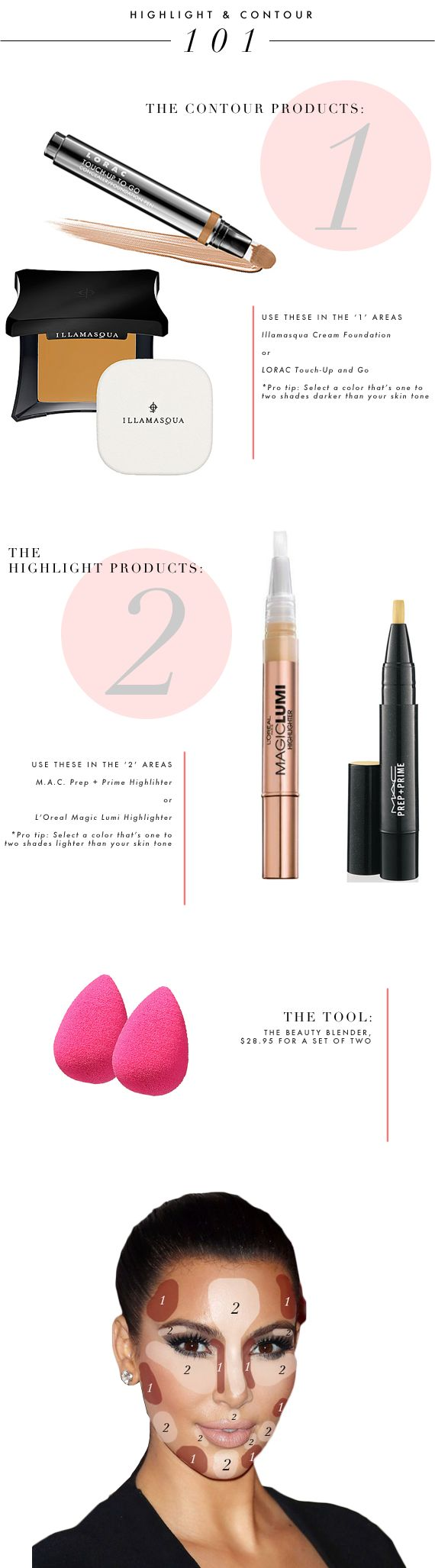 makeup guide how to highlight and contour your face a step by step guide