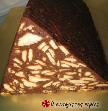 Doukissa - Cypriot chocolate biscuit cake.