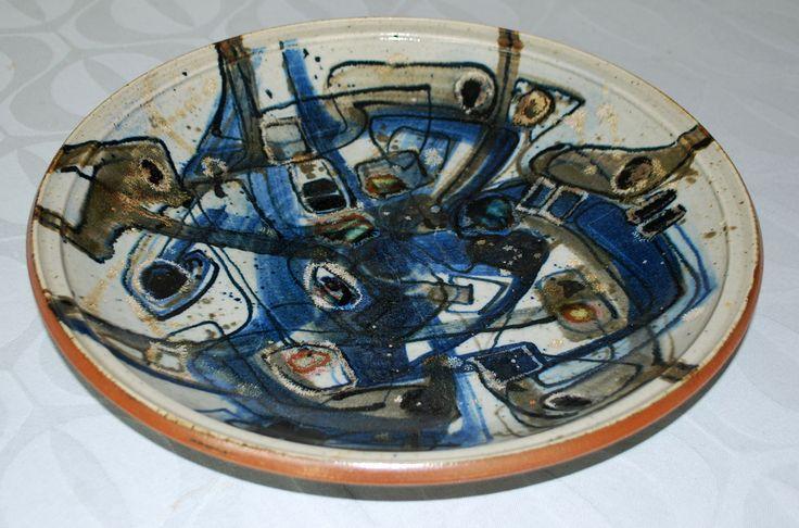 Richard Kjärgaard, big dish (41 cm.), stoneware, own studio Denmark.