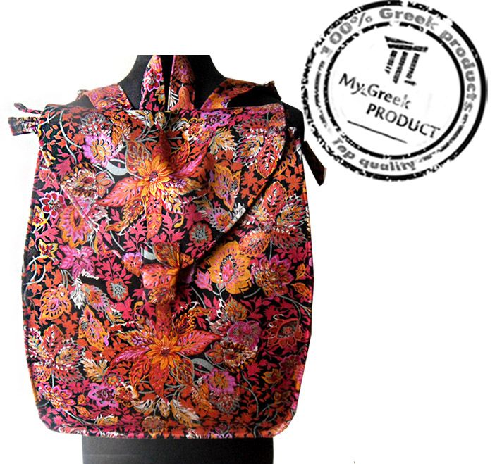 Handmade fabric backpack you'll love it.. Dimensions Length: 29 Height: 35 Width: 12 Stylish and unique, Made to order and wants 3-4 days to prepare.