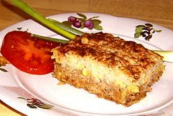 Cottage pie aka Sheperd's pie.  A St. Stephen's Day pie is made using turkey and ham.   St. Stephen's day is 26 December.