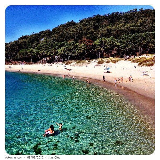 Illas Cíes en Vigo, Galicia