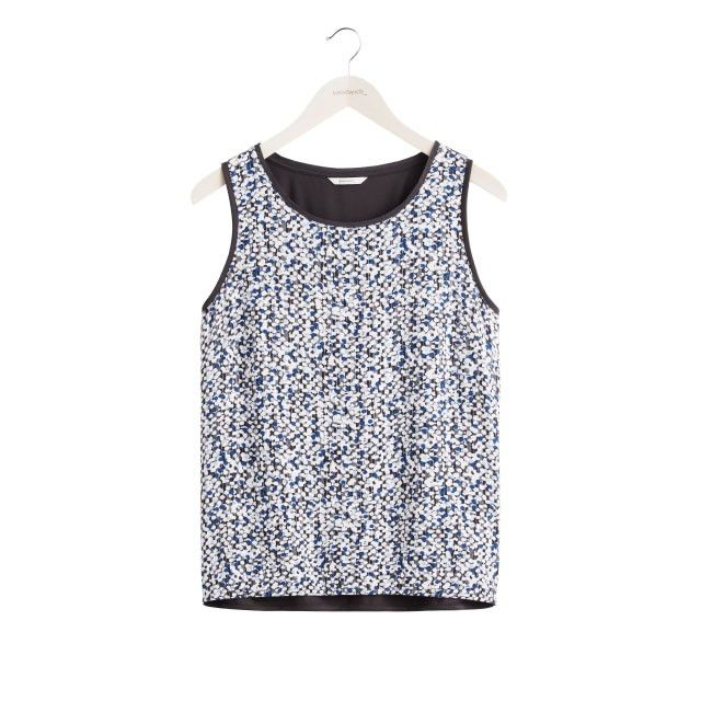 Sandwich Clothing Abstract Print Vest Top Black