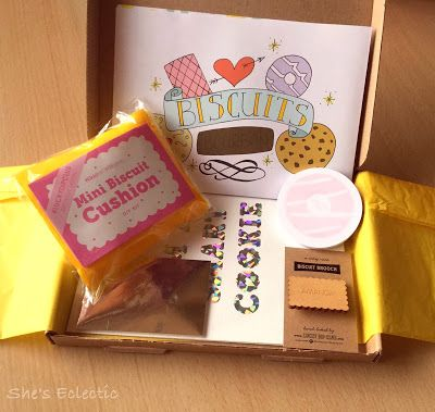 She's Eclectic: Lucky Dip Club - Biscuit Box(pinned to Planner Love as it contained some stationery)